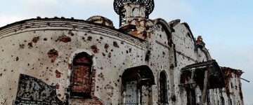 manastirea icoanei maicii domnului iveron din donetsk ucraina dupa bombardament (1)