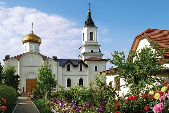manastirea icoanei maicii domnului iveron din donetsk ucraina inainte de bombardament